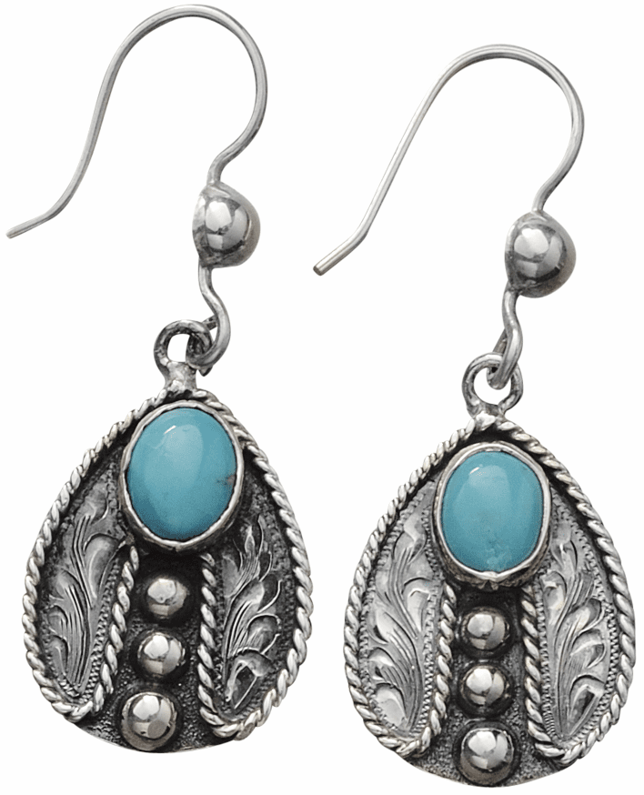 Vogt Sterling and Turquoise Ladybugs Earrings