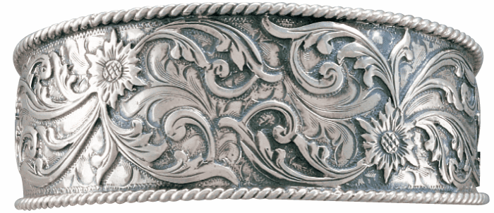 Vogt Sterling Cuff with Applied Scrolls
