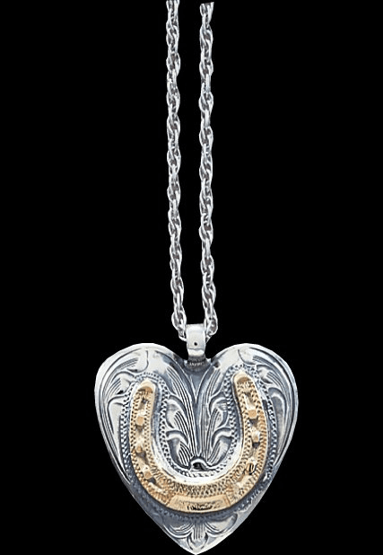 Vogt Sterling Engraved Heart Necklace