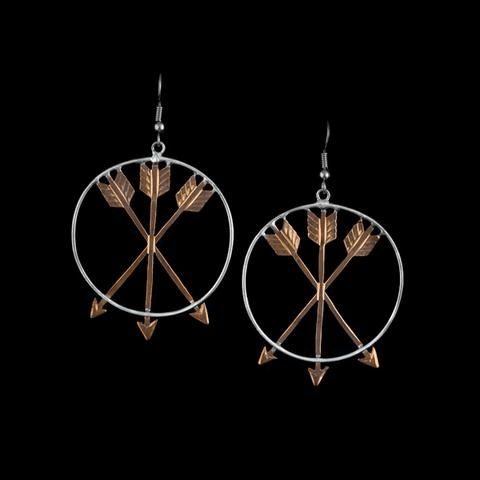 Vogt Suspended Copper Arrows Earrings