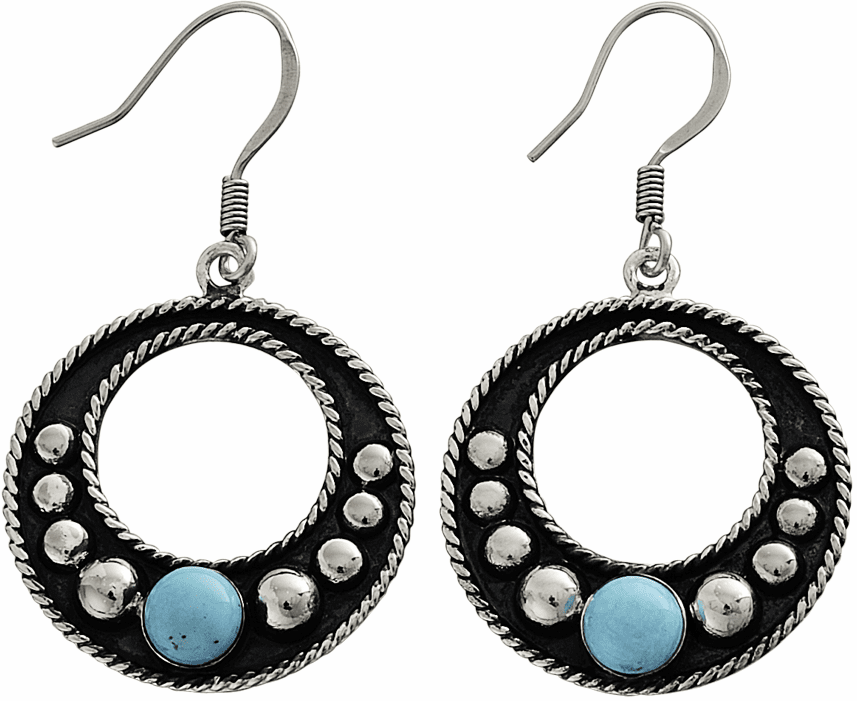 Vogt Turquoise and Sterling Beads Earrings