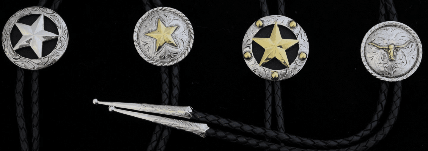 Western Bolos by BarVRanch Vogt Siliversmith (4 Styles to Choose from)