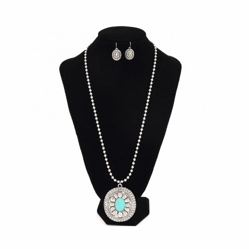Western Concho TQ Necklace set