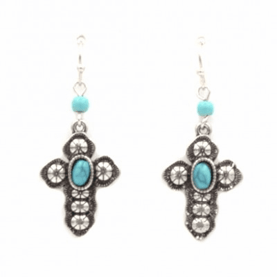 Western Cross Earrings