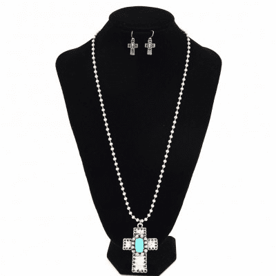 Western Cross TQ Necklace set
