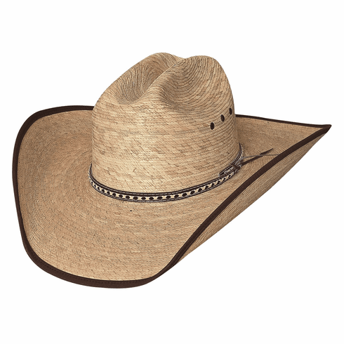Wide Open - (15X) Palm Straw Cowboy Hat