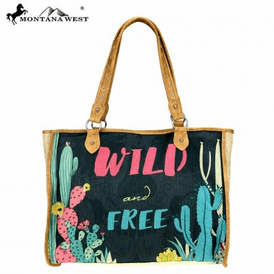 Wild & Free Wild West Collection Canvas Tote Bag