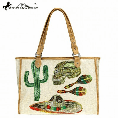 Wild West Cinco Collection Canvas Tote Bag