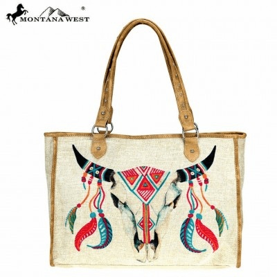 Wild West Native American Collection Canvas Tote Bag