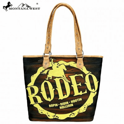 Wild West Rodeo Painting Canvas Tote Bag