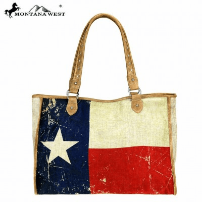 Wild West Texas Pride Collection Canvas Tote Bag