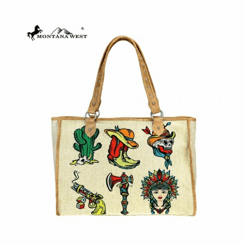Wild West Wild West Painting Canvas Tote Bag
