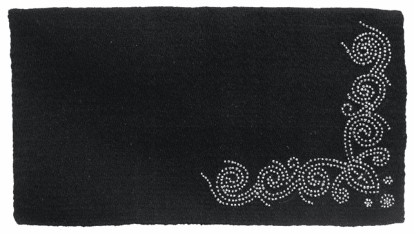 Wool Saddle Blanket with Designer Dots - 35-17895-5-0