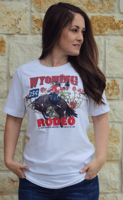 Wyoming Rodeo Tee XS-4X White