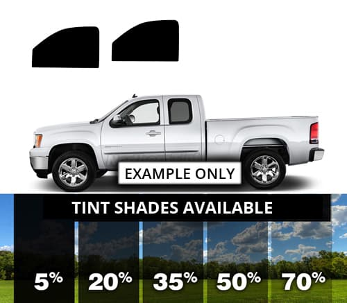 Front Sides Chevy 3500 Extended Cab Precut Window Tint Kit
