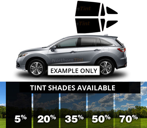 Rear Sides Lexus RX 350 Precut Window Tint Kit