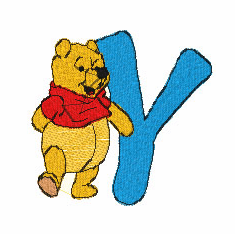 26 POOH ALPHABETS MACHINE EMBROIDERY DESIGNS