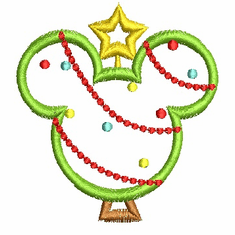 MICKEY MOUSE TREE EMBROIDERY DESIGN DISNEY