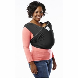Baby K'tan Baby Carrier Active in Black with White Stitching