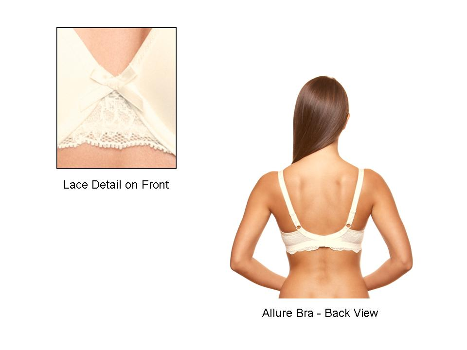 9245677e2b Bravado Allure Underwire Nursing Bra - Lace Detail and Back View