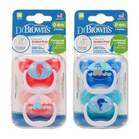 Dr. Brown&#39s PreVent Butterfly Pacifier, 0-6 Months, 2-Pk