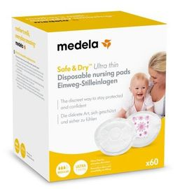 Medela Safe and Dry Ultra Thin Disposable Nursing Pads 60 Ct