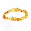 Momma Goose Amber Teething Bracelet, Lemon