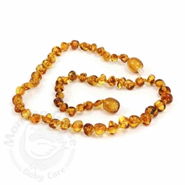 Momma Goose Amber Teething Necklace, Baroque Honey