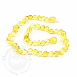 Momma Goose Amber Teething Necklace, Baroque Lemon