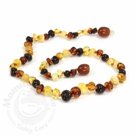 Momma Goose Amber Teething Necklace, Baroque Multi
