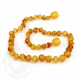 Momma Goose Amber Teething Necklace, Baroque Unpolished Honey