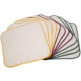 OsoCozy Terry Flannel Wipes Unbleached, 12 Pack