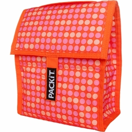 PackIt Personal Cooler in Orange with Dots