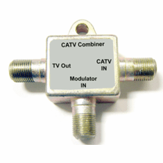 1 In 2 Out RF Coax Splitter + 2 In 1 Out RF Coax Combiner