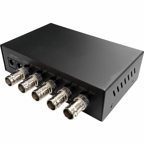 1 In 4 Out HD-TVI CVI AHD Video Splitter - Rack Mount Ready