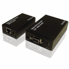 2-In-1 VGA Balun CAT5 Extender + Stereo Audio Balun CAT5 Extender
