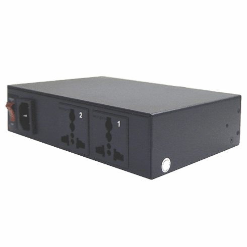 2-Port Remote IP Power Controller With Universal AC Sockets