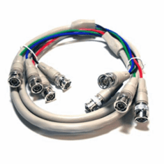4 BNC to 4 BNC RGBS Video Cable - 6FT
