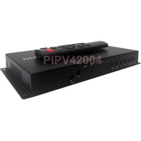 4-Channel HDMI Quad Video Multiplexer With Audio Support + RS485 Distant Control