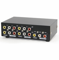 4 In 1 Out Composite Video Audio Switch