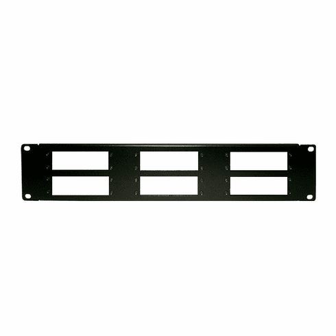 6-Grid 2U Rack Mount Cage For RF Coax Modulator Demodulators