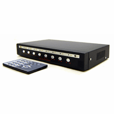 8-Channel Video Multiplexer Picture-In-Picture Generator With RCA Connectors