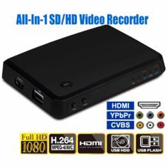 All-In-1 Digital HDMI DVI HD Component Composite RCA Video Recorder