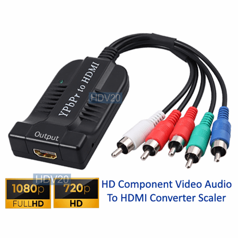 Analog Component Video To 1080p HDMI Converter Scaler