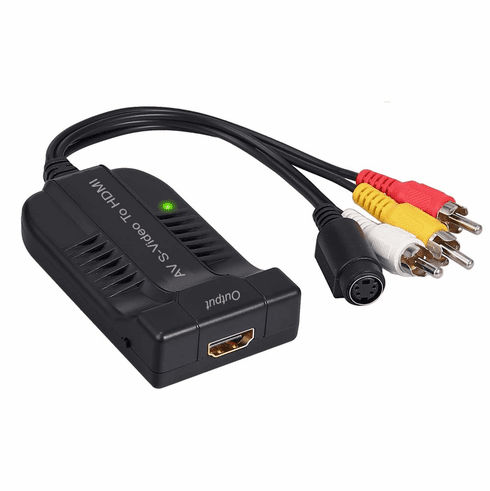 Analog RCA A/V S-Video To 1080p HDMI Up Converter Scaler