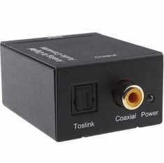Analog RCA L/R Audio To Digital Optical S/PDIF Audio Converter
