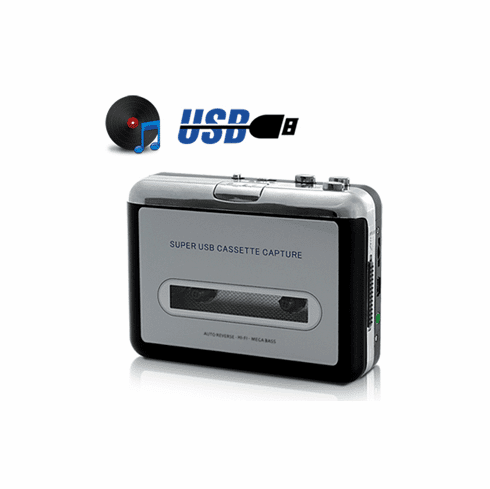 Cassette Tape To MP3 USB Converter With Earphone
