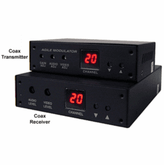 Composite RCA Video Audio Over Coax Cable Extender Kit