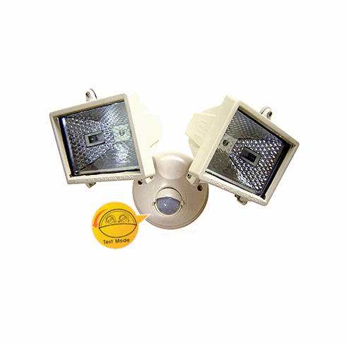 Dual-Head Spot Light With IR Motion Sensor For 24/7 Dusk-To-Dawn Operation
