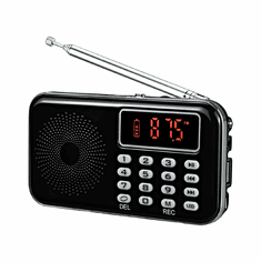 FM Radio With MP3 Player Voice Recorder Speaker Flashlight Functions